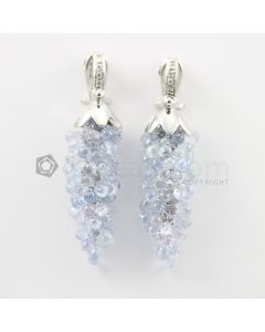3 to 4 mm - Multi-Sapphire Drop Earrings - 89.00 carats (CSEarr1033)