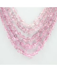 4 to 10 mm - 5 Lines - Pink Sapphire Drops - 348.00 carats (PSDr1003)