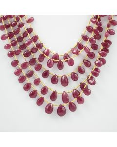 6 to 10 mm - 5 Lines - Ruby Drops - 154.50 carats (RDr1012)