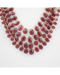 5 to 10 - 4 Lines - Ruby Drops - 163.50 carats (RDr1014)