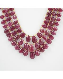 6 to 13 mm - 3 Lines - Ruby Drops - 199.50 carats (RDr1015)