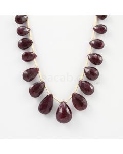 8 to 13 mm - 1 Line - Ruby Drops - 47.93 carats (RDr1019)