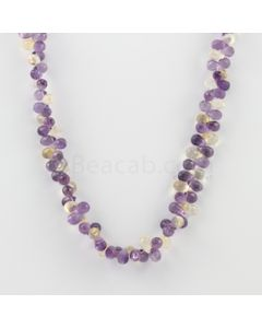 6.60 to 8.00 mm - 1 Line - Amethyst and Citrine Drops Necklace  - 161.50 carats (CSNKL1130)