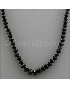 Black Diamond Faceted Beads - 1 Line - 106.31 carats (BDia1005)
