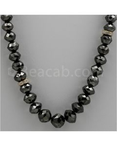 Black Diamond Faceted Beads - 1 Line - 290.16 carats (BDia1007)