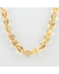 8 to 11 mm - 1 Line - Citrine Faceted Tumbled Beads Necklace - 121.00 carats (CSNKL1133)