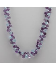 Amethyst, Blue Topaz Briolette - 1 Line - 205.00 carats - 18 inches - (CSNKL1001)