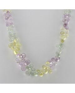 Amethyst, Citrine, Green Amethyst Briolette - 1 Line - 170.50 carats - 16 inches - (CSNKL1027)