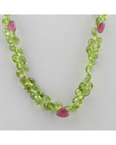Peridot Drop - 1 Line - 171.50 carats - 16 inches - (CSNKL1029)