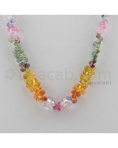 Multi Sapphire Briolettes - 1 Line - 136.00 carats - 15.5 inches - (MSDF1001)