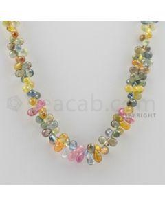 Multi Sapphire Briolettes - 1 Line - 159.50 carats - 16 inches - (MSDF1005)