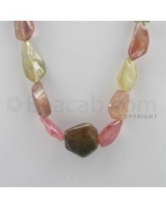 Multi-Sapphire Tumbled - 1 Line - 424.50 carats - 17 inches - (MSTUB1001)