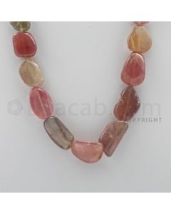 Multi-Sapphire Tumbled - 1 Line - 520.00 carats - 18 inches - (MSTUB1003)