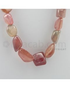 Multi-Sapphire Tumbled - 1 Line - 630.00 carats - 17 inches - (MSTUB1010)