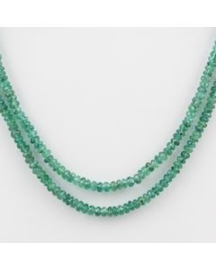 Emerald Faceted - 2 Lines - 44.00 carats - 12.50 to 13 inches - (EmFB1001)