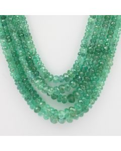 Emerald Faceted - 5 Lines - 191.00 carats - 21 to 23 inches - (EmFB1007)