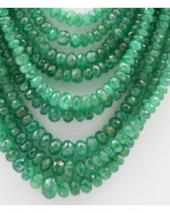 Emerald Faceted - 9 Lines - 330.20 carats - 17 to 21 inches - (EmFB1013)