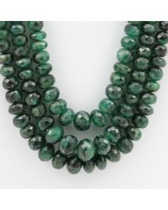 Emerald Faceted - 3 Lines - 401.50 carats - 22 to 24 inches - (EmFB1014)