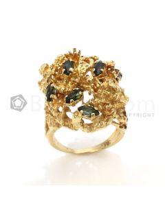 Oval Shape Blue Sapphire Ring in 18kt Yellow Gold - 18.8 grams - EST1226