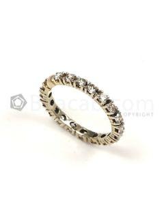 Round Shape White Diamond Ring in 14kt White Gold - 2.27 grams - EST1317