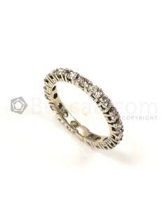 Round Shape White Diamond Ring in 14kt White Gold - 2.33 grams - EST1318