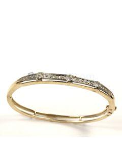Round Shape White Diamond  Bracelet in 14kt Yellow Gold - 15.7 grams - EST1336