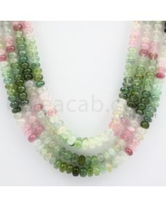 Multi-Tourmaline Roundel Beads - 4 Lines - 325.10 carats - 19 to 21 inches - (MTour1009)