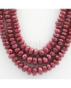 Ruby Faceted - 3 Lines - 585.00 carats - 16 to 18 inches - (RFB1015)