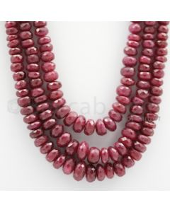 Ruby Faceted - 3 Lines - 720.00 carats - 19 to 22 inches - (RFB1002)
