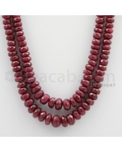 Ruby Faceted - 2 Lines - 415.80 carats - 18 to 19 inches - (RFB1006)