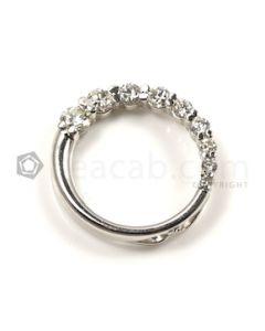 Round Shape White Diamond Pendant in 14kt White Gold - 2.3 grams - EST1381