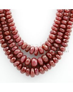 Ruby Faceted - 3 Lines - 482.10 carats - 16 to 18 inches - (RFB1009)