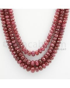 Ruby Faceted - 3 Lines - 307.25 carats - 22 to 24 inches - (RFB1013)