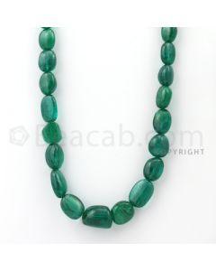Medium Green Emerald Tumbled Shape Beads - 415.15 cts. (EMTUB1097)