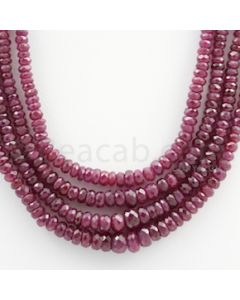 Ruby Faceted - 4 Lines - 228.29 carats - 16 to 18 inches - (RFB1012)