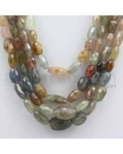 Multi-Sapphire Faceted Long Beads - 4 Lines - 537.39 carats - 15 to 17 inches - (MSFLB1004)