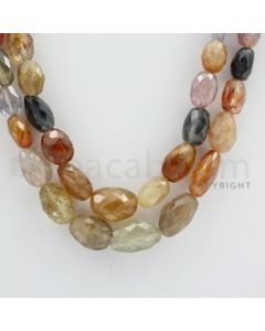 Multi-Sapphire Faceted Long Beads - 2 Lines - 320.00 carats - 21 to 21.5 inches - (MSFLB1008)