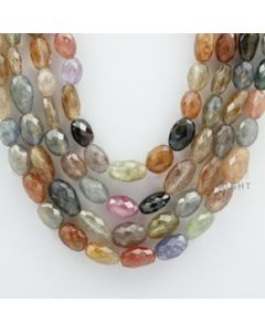 Multi-Sapphire Faceted Long Beads - 4 Lines - 705.00 carats - 18 to 21 inches - (MSFLB1005)