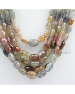 Multi-Sapphire Faceted Long Beads - 5 Lines - 551.09 carats - 14 to 18 inches - (MSFLB1007)
