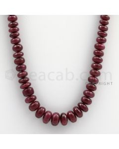 Ruby Roundel Beads - 1 Line - 256.00 carats - 20 inches - (RuRoB1010)