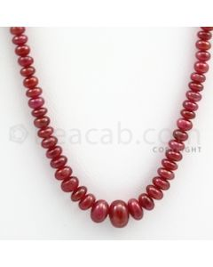 Ruby Roundel Beads - 1 Line - 123.00 carats - 16 inches - (RuRoB1015)