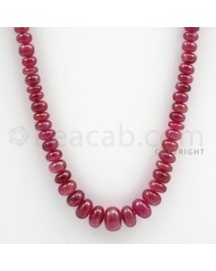 Ruby Roundel Beads - 1 Line - 165.00 carats - 20 inches - (RuRoB1008)