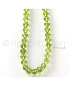 1 Line - Green Peridot Faceted Beads - 116.5 cts - 5.7 mm (PFB1011)