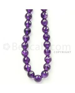 1 Line - Purple Amethyst Faceted Beads - 268.5 cts - 9.8 to 9.9 mm (AMFB1020)
