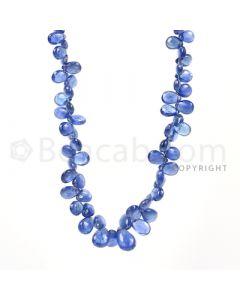 1 Line - Medium Blue Sapphire Drops - 72 cts - 4 x 2.6 mm to 9 x 6 mm (SDR1022)