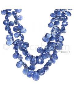 2 Lines - Medium Blue Sapphire Drops - 267.5 cts - 3.1 x 2.3 mm to 9.3 x 6 .5 mm (SDR1023)