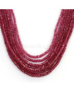 7 Lines - Faceted Medium Red Ruby Beads - 228.69 - 1.9 to 4.1 mm (RFB1105)