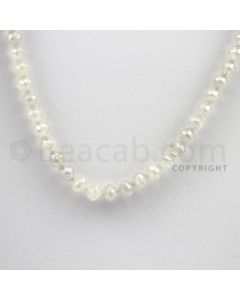 White Diamond Faceted Beads - 1 Line - 48.58 carats (WDia1002)