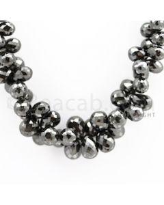 Black Diamond Drops with Green Sapphire Clasp - 1 Line - 387.23 carats (DiaDrp1002)