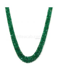 2 Lines - Medium Green Emerald Faceted Beads - 91.95 - 2.4 to 5.5 mm (EMFB1058)